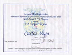 FFA Chapter Degree