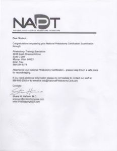 Copy of NAPT paperwork.