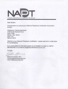 Copy of NAPT paperwork.